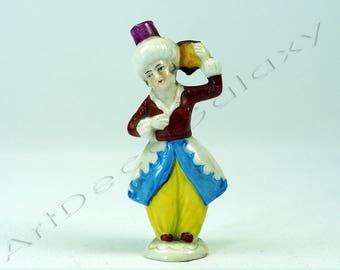 Antique German Porcelain Figural Perfume Bottle