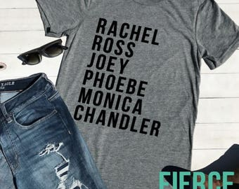 Rachel Ross Joey Friends TV Show Shirt, Friends Shirt, Sister Gift, Best Friends Gift
