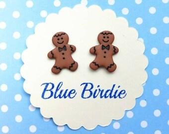 Gingerbread man earrings gingerbread man jewelry gingerbread men jewellery gingerbread earrings Christmas earrings gingerbread man gifts