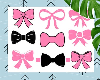 Bow Svg Bundle Bow Svg Cheer Bow svg Bow tie svg Girl Svg Boy Svg Files for Cricut Silhouette Vector Cut Files Cut Files lfvs