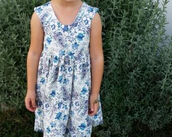 Little Girls Open Backed Party Dress