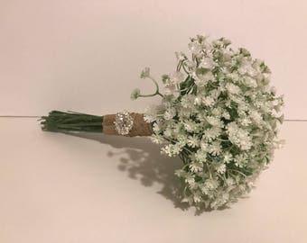 Gypsophila Bouquet Wedding Babys Breath Bridesmaid Artificial Flower