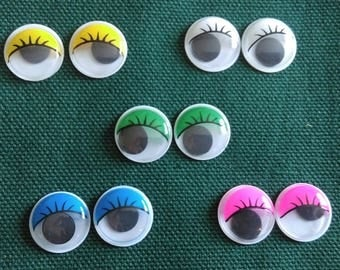 5 pairs of eyes for dolls made by hand colors
