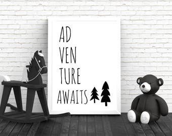 Monochrome Nursery - Nursery Decor - Nursery Wall Art - Playroom Poster - Black and White Print - Nursery Print - Home Decor - Wall Art