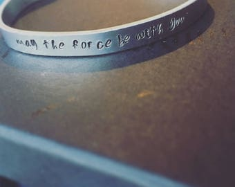 May The Force Be With You Cuff Bracelet