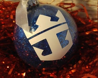 Royal Caribbean Holiday Christmas Custom Cruise glitter ornament, customize with your sail date, name etc