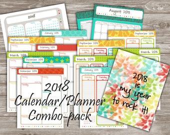2 complete planners! Vertical and horizontal planner / agenda / bullet journal / calendar