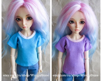 MORE COLORS MSD clothes basic t-shirts bjd 1/4 minifee