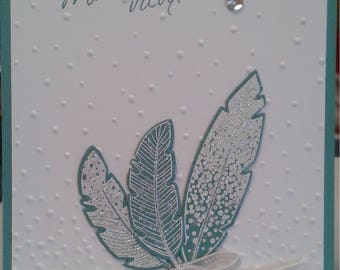 Completely handmade greeting card