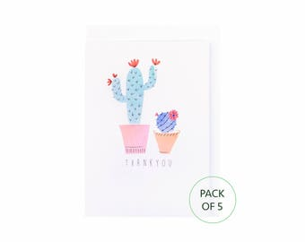 Cacti Thank You Cards- Pack of 5