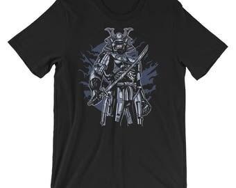 Robot Samurai Short-Sleeve Unisex T-Shirt