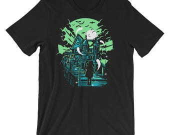 Haunted House Short-Sleeve Unisex T-Shirt