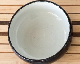 Ceramic Serving Bowl  [ Stoneware Bowl, Fruit Bowl, Salad Bowl, Black Bowl, White Bowl, Tableware, Wedding Gift, Gift for Her]