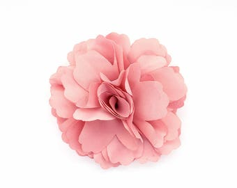 2 Dust Pink Rose Flower Baby Girl Hair Clips Brooches 1 Pair