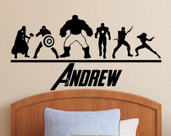 The Avengers Personalized Vinyl Wall Decal/Sticker Boys Decor