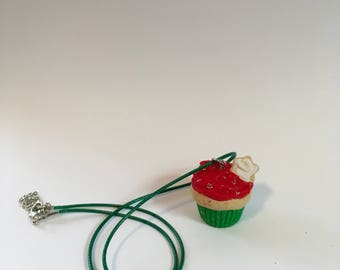 Xmas Cookie Cupcake Necklace