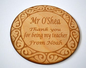 Thank you for being my teacher personalised coaster - Teacher Gift