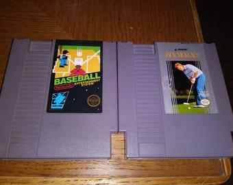 Baseball and golf NES cartridge