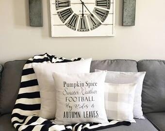 """Fall, pillow cover, modern farmhouse style, 18""""x18"""", cushion cover"""