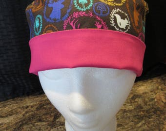 Women's tie back scrub hat