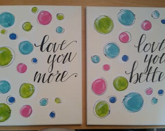 Polka Dot Canvas Set