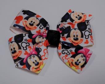 Mickey & Minnie Hair Bow - Girl's hair bow, Disney hair bow, Hair accessory, Hair clip, Hair Bow, Barrettes and clips, Toddler hair bow