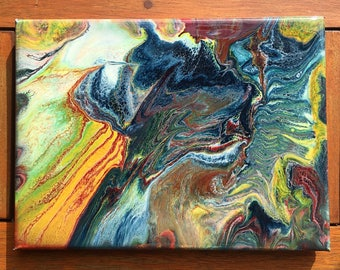 The colours of my backyard // original abstract resin painting // resin art