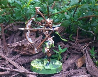 Wood Elf Ranger Minature for Dungeons and Dragons/ Pathfinder/ RPG games.