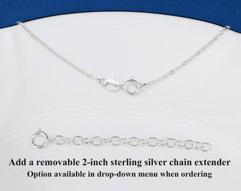Sterling Silver Flat Cable Chain Necklace - 1.3mm Flat Cable Chain Necklace - Make you own charm necklace
