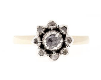Rose Cut 1880's Diamond Ring