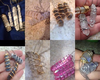 2 Crystal Necklaces and 1 Spiritual Item (of your choice)