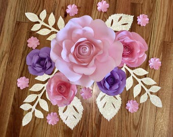 5 pc Paper Flower wall decor