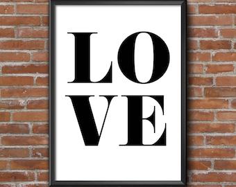 LOVE Print / A4 Print / A5 Print / Love