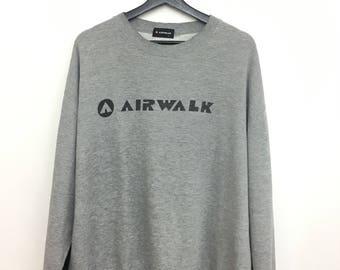 Mega Sale AIRWALK Sweatshirt Spellout Pullover Skateboard 3L Size