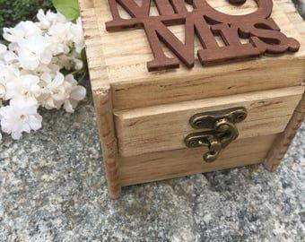 Rustic Floral Ring Bearer Box