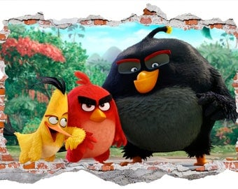 Angry Birds Wall Sticker, Wall Decal Graphic