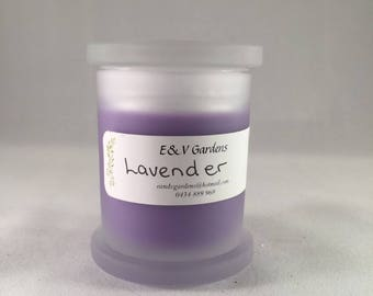 Homemade soy candle / Lavender / Lavender and Eucalyptus / Lavender and lemon / Frosted glass / Small monaco / Soy candle
