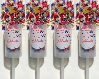 July 4th Party Poppers (Set of 4)