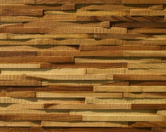 Elm Wood Decorative Interior Wall Cladding 3D - Made to size