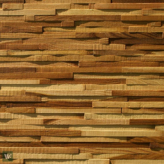 Elm Wood Decorative Interior Wall Cladding 3d Made To Size