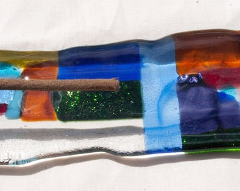 Incense Holder fused glass unique, gift for the home, gift for her, gift for him, fathers day
