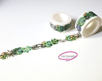 1m design tape - succulent wreath