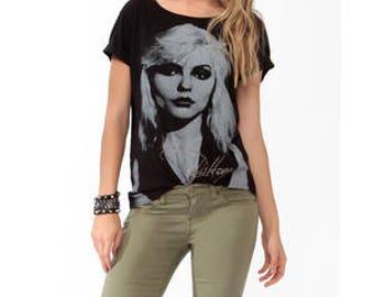 Debbie Harry T Shirt Black Blondie Signature