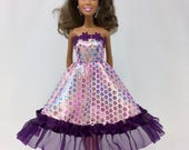 "Birthday Party Dress-11.5"" Doll Clothes-Sparkly Pink Dress-Party Dress-Pink Party Dress-Princess Dress-Dress up-Doll Dress-Fancy Doll Dress"