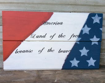 American spirit wall sign