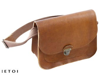 Saddle bag, leather bag, natural cowhide leather, brown leather purse, small shoulder bag, women purse, bag for women,