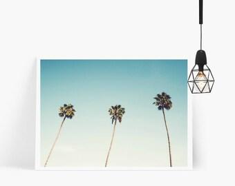 Palm Trees Print, Tropical Wall Art, Sky Print, Tropical Poster, Wall Prints, Tropical Palm Leaf Wall Print, Wall Poster, Tropical Prints