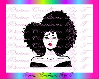 Black and White Diva 2 ( SVG, DXF EPS ) (made by me)