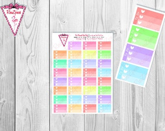 Printable *CUSTOM* Half Box Checklists - Soft Colors