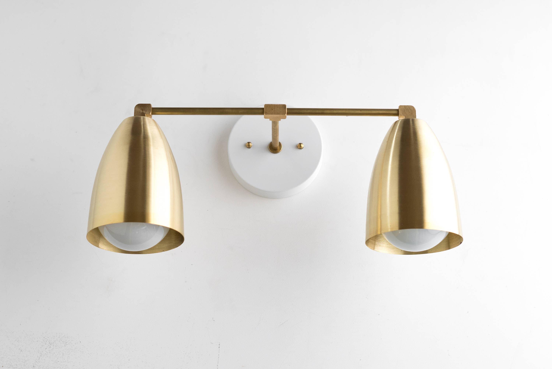 Bathroom Lighting Mid Century Modern modern brass fixture bathroom lighting brass vanity lamp
